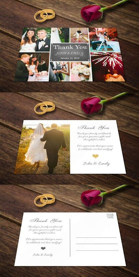 wedding thank you cards templates psd 1000 ideas about thank you card template on