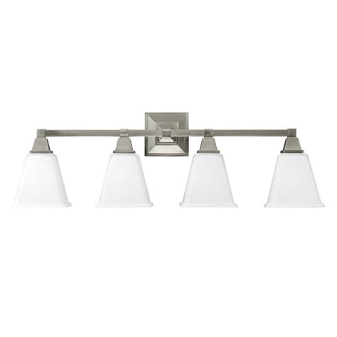 brushed nickel 4 light vanity sea gull lighting denhelm 4 light brushed nickel wall bath