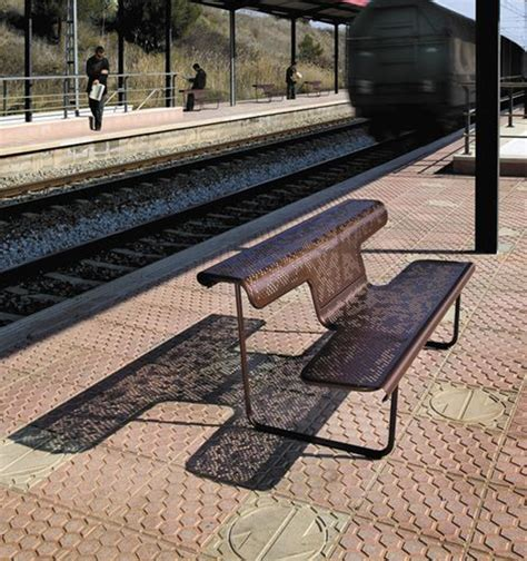 Public Bench In Metal