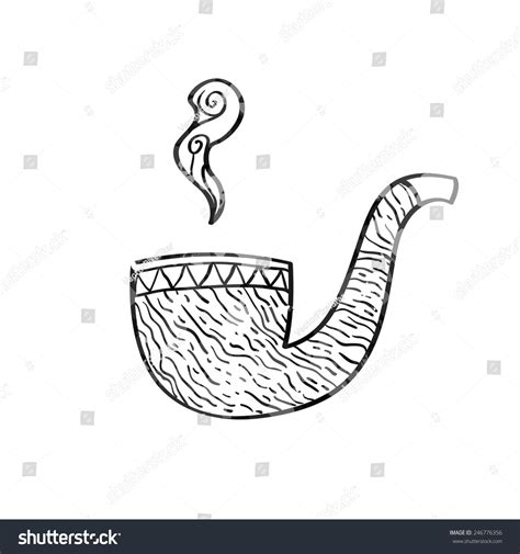 doodle tobacco tobacco pipe doodle style isolated vector