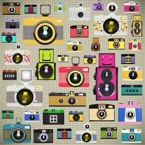 camera wallpaper pattern retro camera pattern by setsiri silapasuwanchai