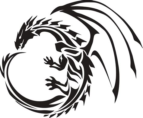 stylish tattoo png circle dragon tattoo transparent png stickpng