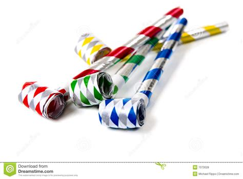 Party Noisemakers On White Royalty Free Stock Photos   Image: 7073028