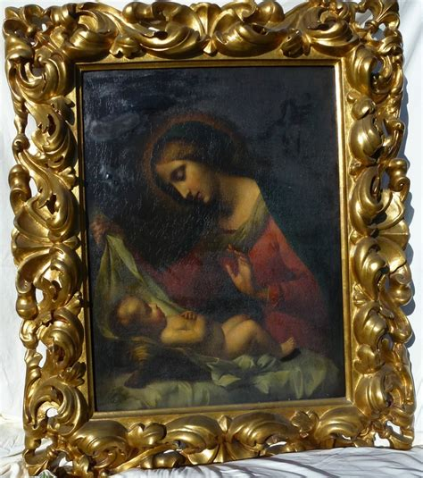 9 Paintings Framing Frame by Antique Painting Madonna Child European Gilt Gesso