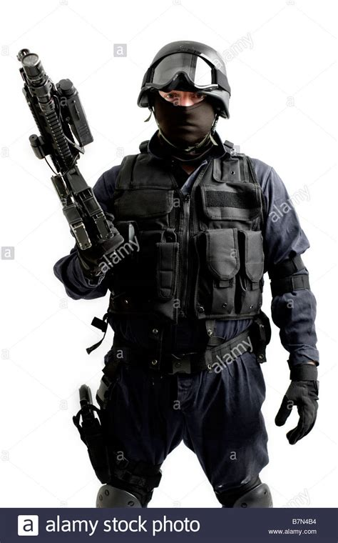 Swat S W A T Black a tactical officer stock photo 21977400 alamy