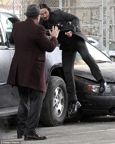 michael nyqvist john wick injury keanu reeves is after revenge as he shoots scenes for