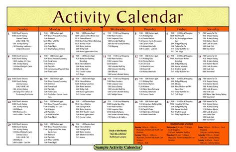 nursing home activity calendar template printable blank activity calendars for nursing home 2018