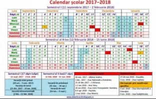 Calendar 2018 Zile Lucratoare Calendar An şcolar 2017 2018 Structura Noului An şcolar