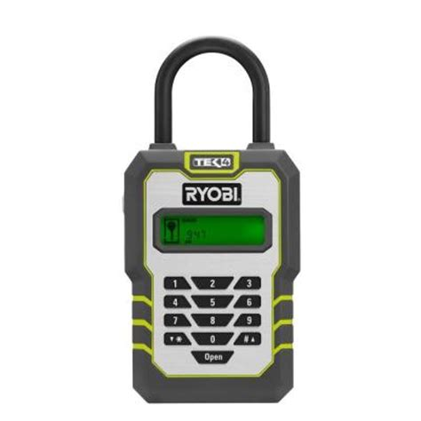 ryobi tek4 digital key lock box with 4 volt battery and