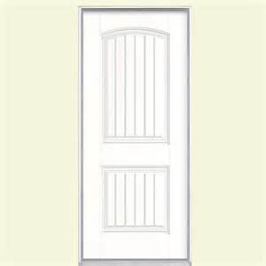 Masonite Cheyenne Interior Doors Masonite 32 In X 80 In Cheyenne 2 Panel Painted Smooth Fiberglass Prehung Front Door With No