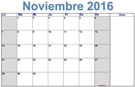 Calendario 2017 Noviembre Calendario Mensual Noviembre 2016 Para Imprimir Gratis