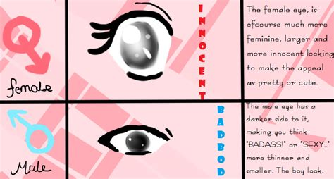 male vs female eyes the male and female eyes differences tutorial by