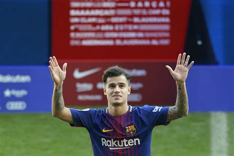 barcelona coutinho barcelona confirm philippe coutinho injury lay off and