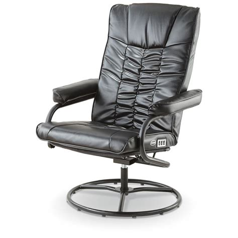 dr scholl s 174 shiatsu reclining swivel chair