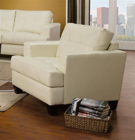cream couch set cream leather sofa set samuel collection item 501691