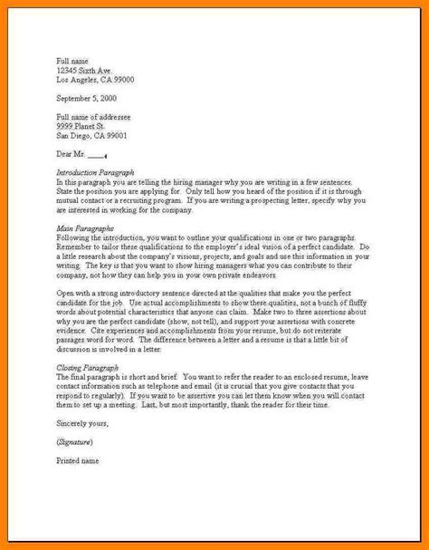 Exle Of Cover Letter For Application by 17 Pdf How To Write An Application Letter Address Exle