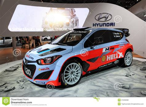 auto mobile de deutschland hyundai i20 wrc racing car editorial photography image of