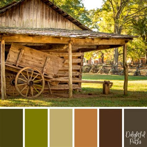 rustic color palette rustic inspired color palettes delightful paths
