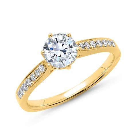 Verlobungsring Mit Diamant by Verlobungsring 585er Gold Mit Diamanten Dr0116 14kg