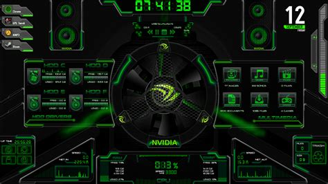 download themes windows 7 rog asus rog rainmeter edited to nvidia by bigheadlover on