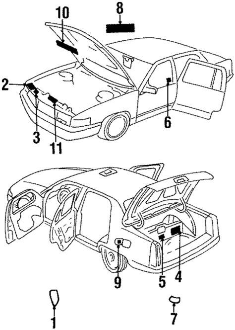 LABELS Parts for 1998 Cadillac DeVille
