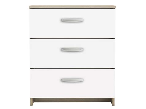 Commode Tiroir Blanc by Commode 3 Tiroirs Nano Coloris Blanc Ch 234 Ne Shannon