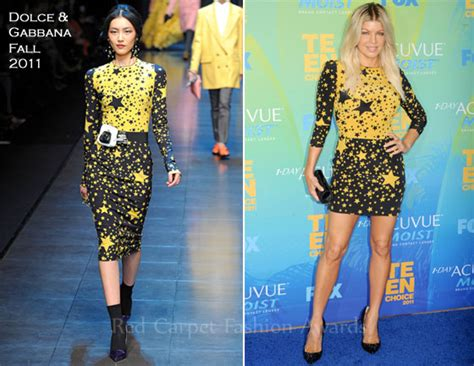 Catwalk To Carpet Fergie In Dolce Gabbana by Fergie In Dolce Gabbana 2011 Choice Awards