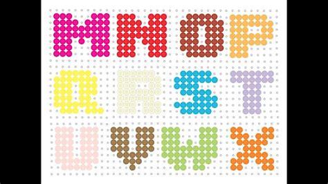hama bead letter templates hama bead alphabet