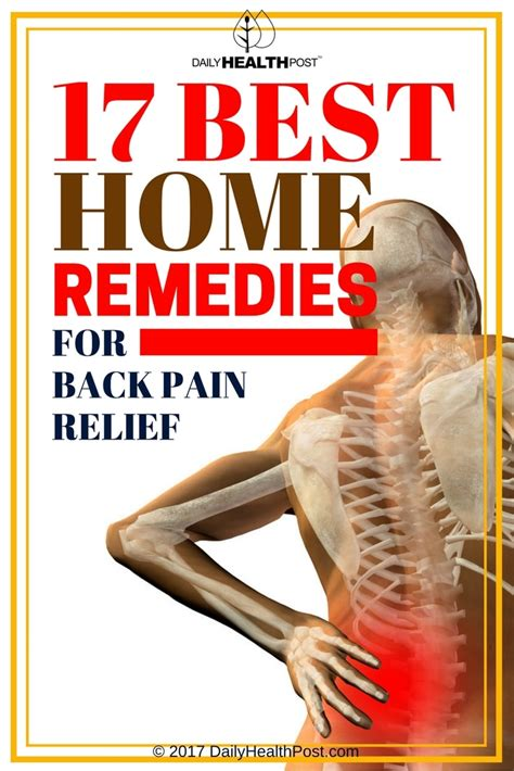 17 best home remedies for back relief