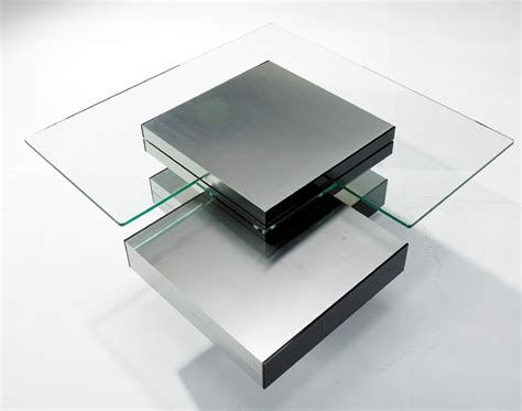 Contemporary Glass Coffee Tables Contemporary Glass Multi Level Coffee Table