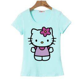 Kaos Karakter Anak Hello Salur Biru 1 Sd 6 Thn jual kaos anak cewe hello biru langit bajuyuli