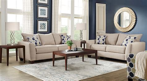 Bonita Springs Living Room Set Rooms To Go Bonita Springs Beige 7 Pc Living Room Living Room Sets
