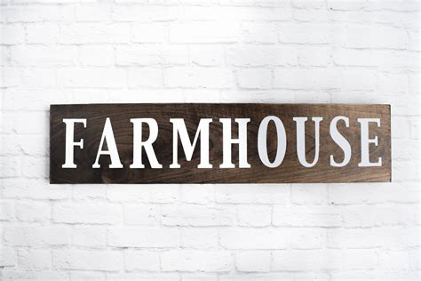 farmhouse wood sign wooden sayings wall d 233 cor rustic wood