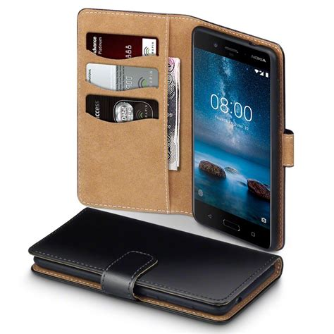 Leather Nokia nokia 8 pu leather wallet with suede interior