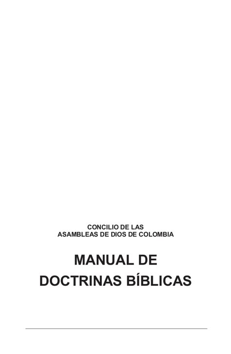 doctrina biblica ensenanzas esenciales 0829738282 reglamento interno iglesia local manual de doctrinas biblicas 3