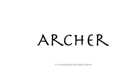 Letter Archer Archer Name Designs
