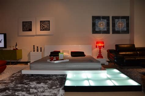 bedroom set with led lights platform bed with lights galaxy contemporary style
