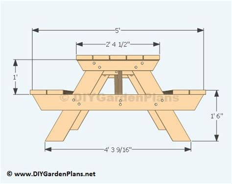 picnic table bench height 25 best ideas about picnic table plans on pinterest