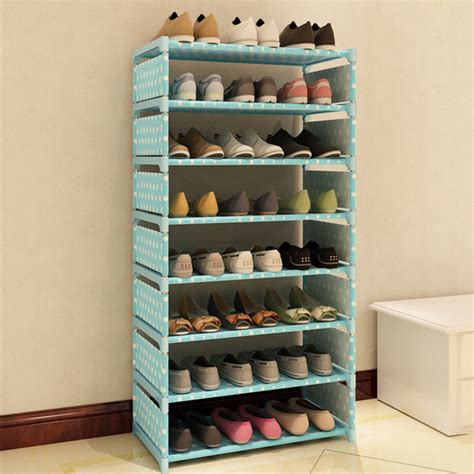 diy shoe storage cabinet 7 layers non woven fabric shoe rack shelf storage closet
