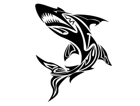 tribal great white shark tattoo tribal great white shark www imgkid the