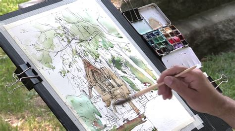 sketchbook versi 3 my travel watercolor kit and tree sketch versi on the spot