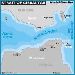 map of strait of gibraltar strait of gibraltar map