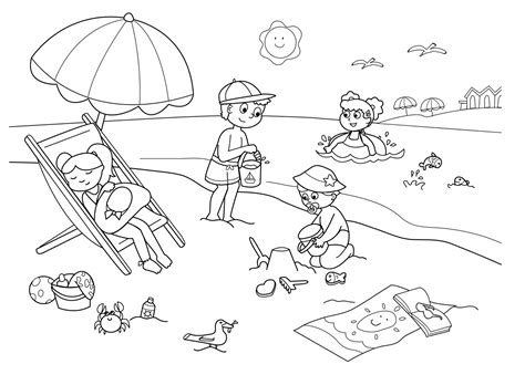 imagenes vacaciones colorear summer coloring pages for adults dibujos de verano para