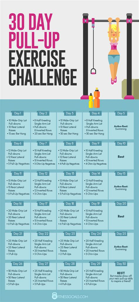 30 day exercise challenge for best pull up workout 30 day exercise challenge for