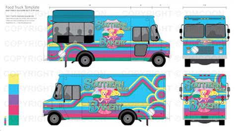 It Started In 82 Southern Belle Bakery Truck Design Food Truck Layout Template
