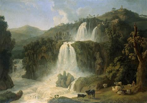 Landscape View Definition File Jacob Philipp Hackert Great Cascades At Tivoli