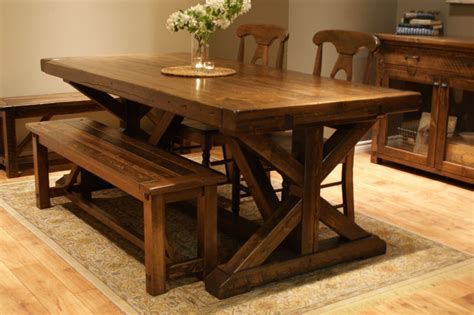 chateau trestle dining table  calgary alberta liken woodworks