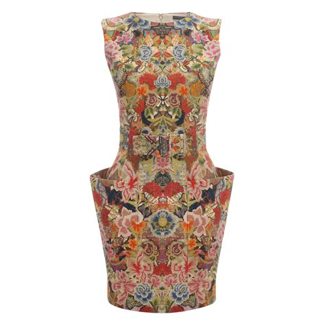 Patchwork Dress - mcqueen patchwork floral belted mini dress in