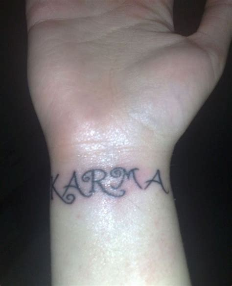 tattoo ideas karma karma designs wrist creativefan