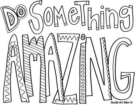 quote coloring page do something amazing